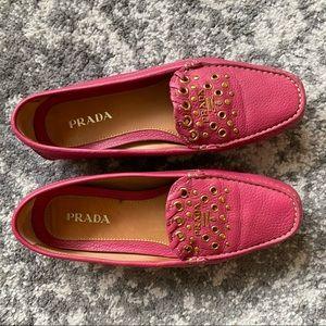 Pink Prada Loafers